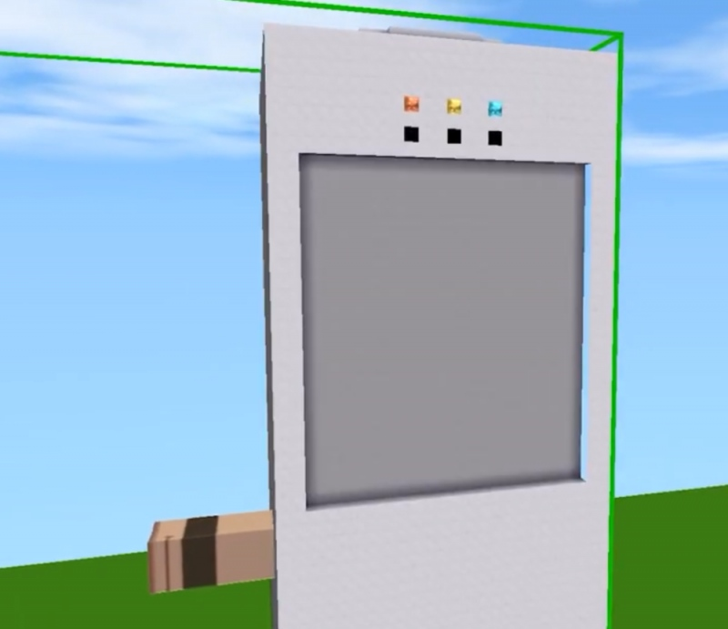 在迷你世界中做台饮水机细节上很到位跟真的饮水机没什么两样